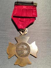 Marine Corps Brevet Medal back